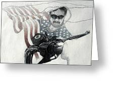 American Rider Greeting Card