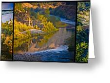 American River Triptych 2 Greeting Card by Sherri Meyer