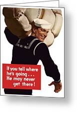 American Sailor -- Ww2 Propaganda Greeting Card