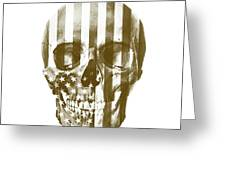 American Skull Beige Greeting Card