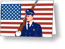 American Soldier Flag Greeting Card