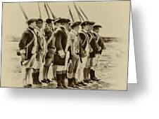 American Soldiers At Fort Mifflin Greeting Card