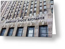 American Stock Exchange Building New York  Greeting Card