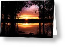 American Sunset Greeting Card