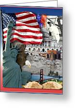 American Symbolicism Greeting Card