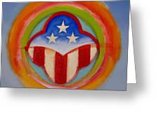 American Three Star Landscape Greeting Card