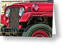 American Willys Greeting Card