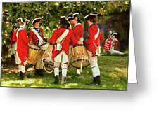 Americana - People - Preparing For Battle Greeting Card