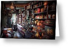Americana - Store - Corner Grocer  Greeting Card by Mike Savad