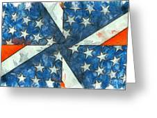 Americana Abstract Greeting Card