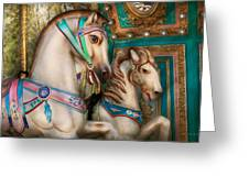 Americana - Carousel Beauties Greeting Card