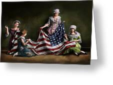 Americana - Flag - Birth Of The American Flag 1915 Greeting Card