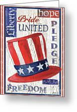 Americana Patriotic Greeting Card