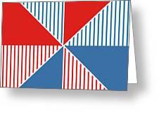 Americana Pinwheel Greeting Card