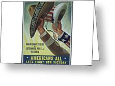 Americans All Greeting Card