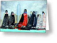America's Cup New York City Greeting Card