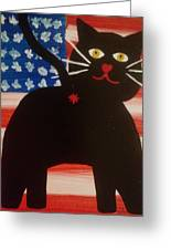 Americat Cat Butt Greeting Card