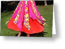 Ameynra Belly Dance Fashion - Multi-color Skirt 93 Greeting Card