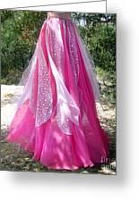 Ameynra Design - Pink-white Petal Skirt 146 Greeting Card