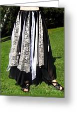 Ameynra Fashion Gothic Skirt With Lace Greeting Card