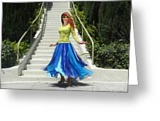 Ameynra Fashion. Petal Skirt. Model Sofia Greeting Card