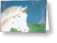 Amid The Unicorns Greeting Card