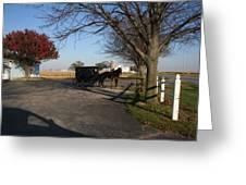 Amish 4 Greeting Card