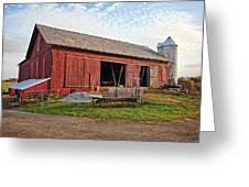 Amish Barn At Sunrise Greeting Card