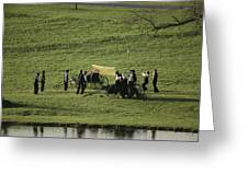 Amish Buggies Anchor A Volleyball Net Greeting Card by Ira Block