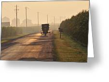 Amish Buggy And Corn Over Your Head Greeting Card