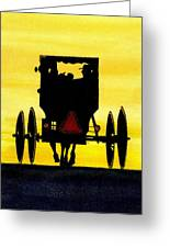 Amish Buggy At Dusk Greeting Card by Michael Vigliotti