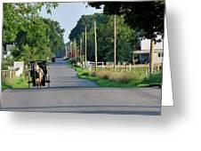 Amish Buggy Sunny Summer Greeting Card