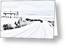 Amish Christmas Greeting Card