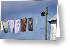 Amish Clothesline Greeting Card