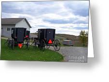 Amish Country Carts Autumn Greeting Card
