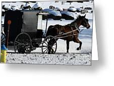 Amish Crossing Greeting Card
