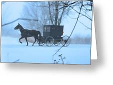Amish Dreamscape Greeting Card by David Arment