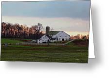 Amish Farm At Dusk Greeting Card by Gordon Beck