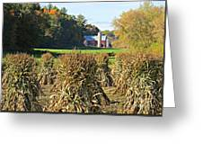 Amish Farm Country Fall Greeting Card