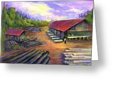 Amish Lumbermill Greeting Card