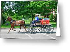 Amish Merchant 5671 Greeting Card by Guy Whiteley