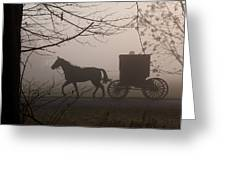 Amish Morning 1 Greeting Card