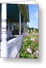Amish Porch Greeting Card