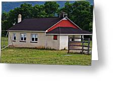 Amish School In Rote, Pa Greeting Card