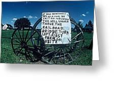 Amish Sign Greeting Card