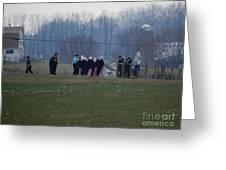 Amish Teens At An Easter Monday Gathering Greeting Card