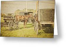 Amish Wagons Greeting Card