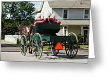 Amish Women Greeting Card