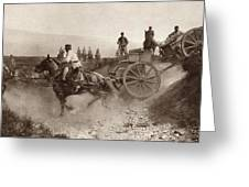 Ammunition Wagons Of An Italian Field Greeting Card