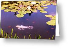 Among The Lilies Greeting Card